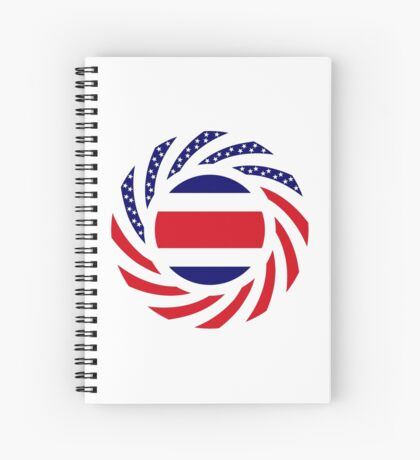 Costa Rican American Multinational Patriot Flag Series Spiral Notebook