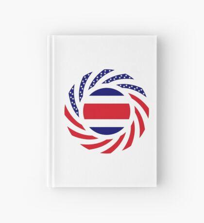 Costa Rican American Multinational Patriot Flag Series Hardcover Journal