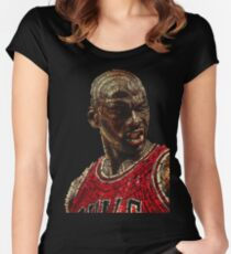 The GOAT Michael Jordan Women's Fitted Scoop T-Shirt