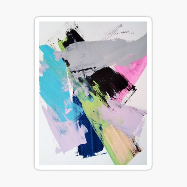 Abstract Expressionism Sticker