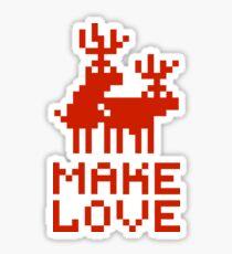 Christmas sweater deers in love Sticker