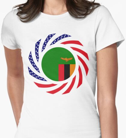 Zambian American Multinational Patriot Flag Series T-Shirt