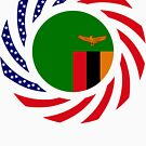 Zambian American Multinational Patriot Flag Series by Carbon-Fibre Media