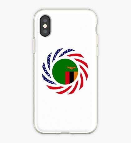 Zambian American Multinational Patriot Flag Series iPhone Case