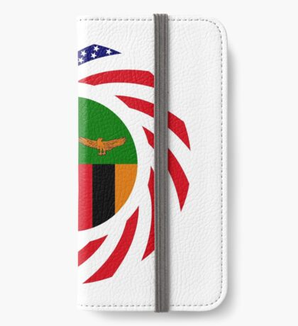 Zambian American Multinational Patriot Flag Series iPhone Wallet