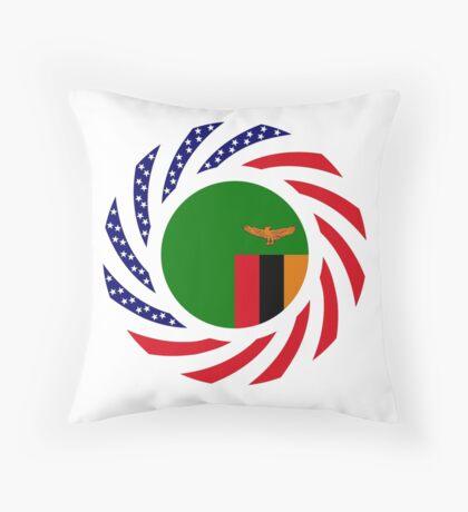 Zambian American Multinational Patriot Flag Series Throw Pillow
