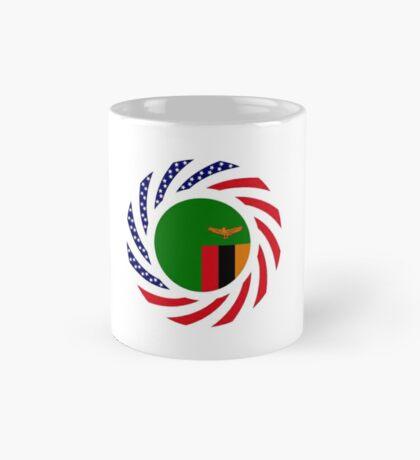 Zambian American Multinational Patriot Flag Series Mug