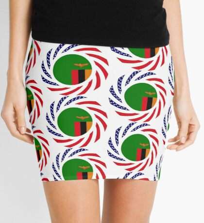 Zambian American Multinational Patriot Flag Series Mini Skirt