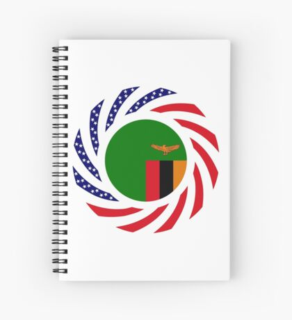 Zambian American Multinational Patriot Flag Series Spiral Notebook