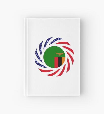 Zambian American Multinational Patriot Flag Series Hardcover Journal