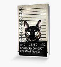 Kitty Mugshot Greeting Card
