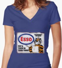 Esso - Put a Tiger in Your Tank! Women's Fitted V-Neck T-Shirt