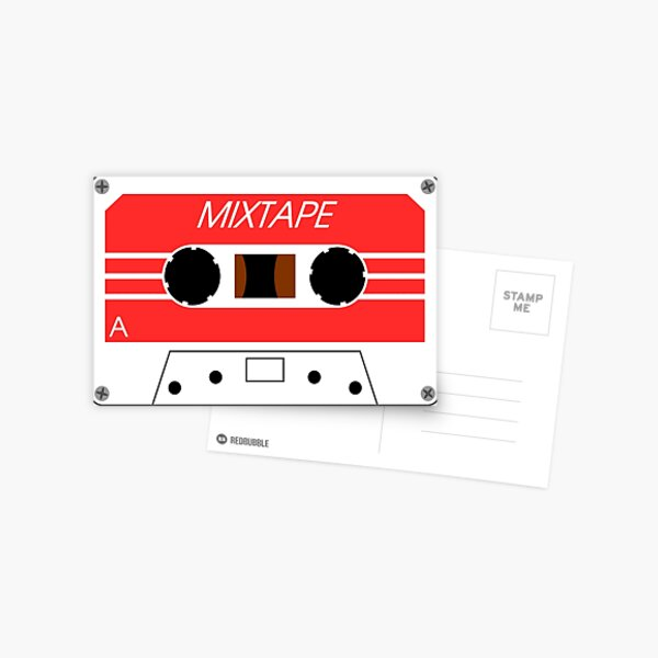 Mixtape Cassette Tape by Chillee Wilson Postcard