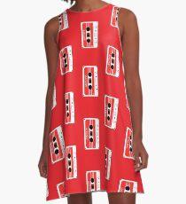Mixtape Cassette Tape by Chillee Wilson A-Line Dress