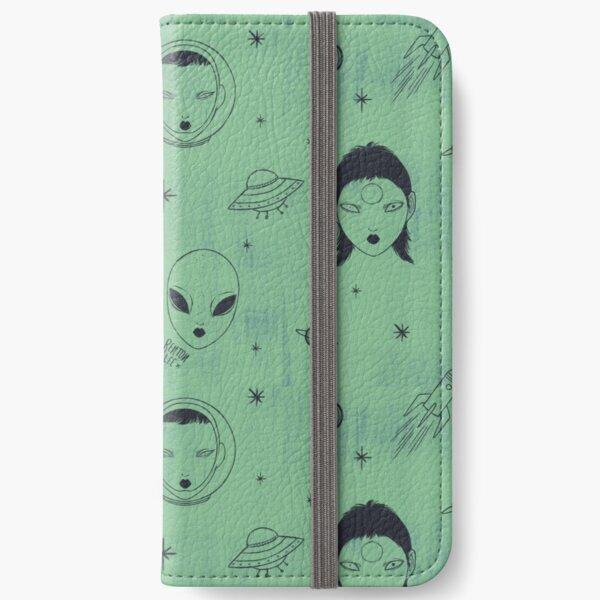 Alien Pattern iPhone Wallet