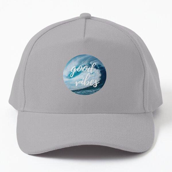 Good Vibes Blue Ocean Wave Circle Baseball Cap
