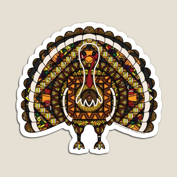 Fall Turkey Magnet