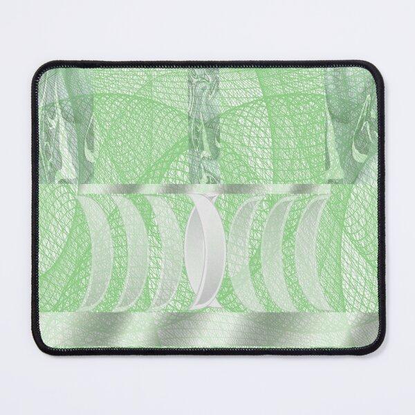 Light Emerald Green Kaleidoscope Geometric Print Mouse Pad