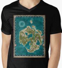 Pirate Adventure Map Mens V-Neck T-Shirt