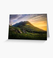 Mountain Sunset Greeting Card