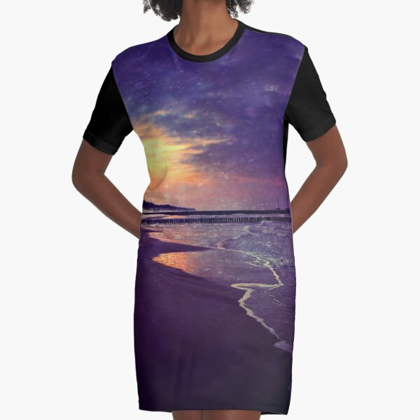 Walking on the dream Graphic T-Shirt Dress