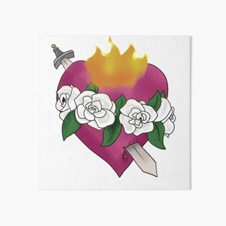 Immaculate Heart of Mary Art Board Print