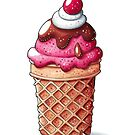 Sweet cherry ice cream by Julia Henze