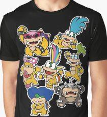 Koopalings - Paper Mario: Color Splash Graphic T-Shirt