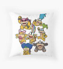 Koopalings - Paper Mario: Color Splash Throw Pillow