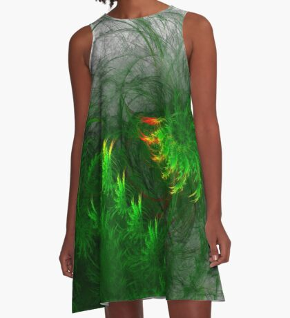 Jungle #fractal art A-Line Dress