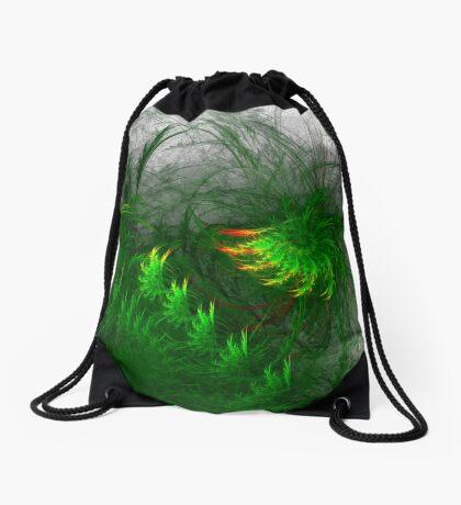 Jungle #fractal art Drawstring Bag