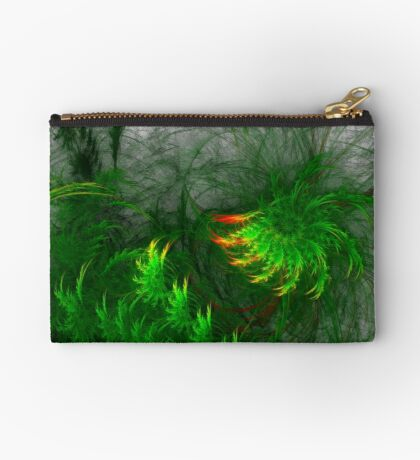 Jungle #fractal art Zipper Pouch