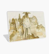 A series of Rabbits at a party by Beatrix Potter Laptop Skin