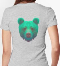 The low poly Bear Necessities Womens Fitted T-Shirt