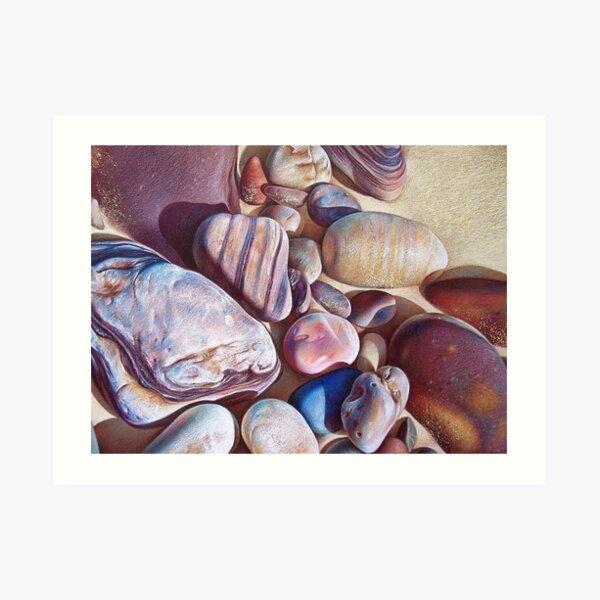 """Pallette of stones - Hallett Cove beach SA"" - detail  Art Print"