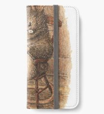A Mouse Knitting by Beatrix Potter iPhone Wallet/Case/Skin