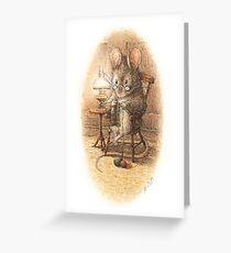Eine Maus Stricken von Beatrix Potter Grußkarte