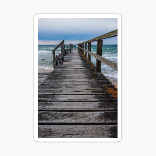 Point King Jetty, Portsea, Mornington Peninsula, Victoria, Australia Sticker
