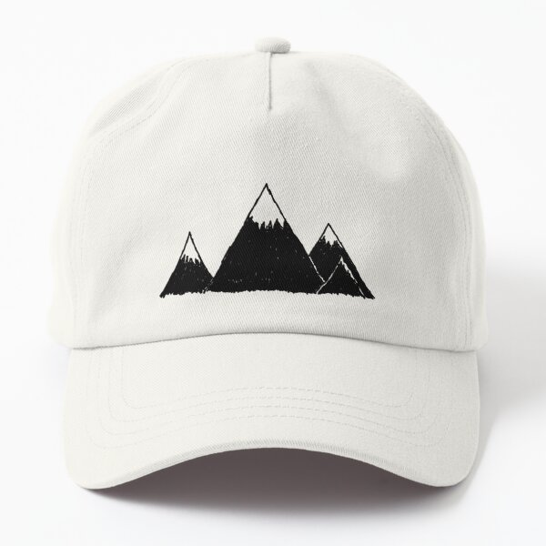 Mountains in winter and the peaks with snow Dad Hat