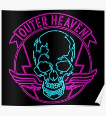 °METAL GEAR SOLID° Outer Heaven Neon Logo Poster