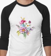 Colorful bunch of flowers  Men's Baseball ¾ T-Shirt