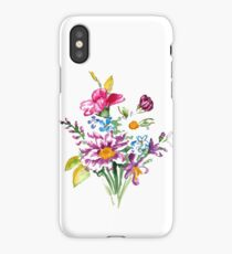 Colorful bunch of flowers  iPhone Case/Skin