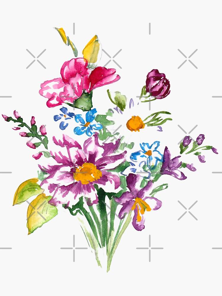 Colorful bunch of flowers  by lisenok