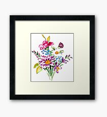Colorful bunch of flowers  Framed Print