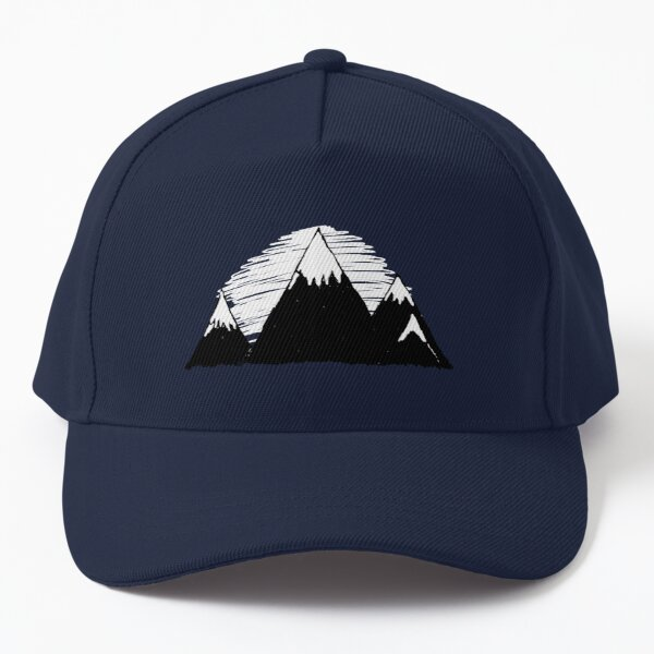 Mountains in winter and the peaks with snow Baseball Cap