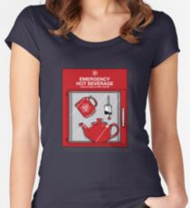 Social Protocol Emergency Women's Fitted Scoop T-Shirt