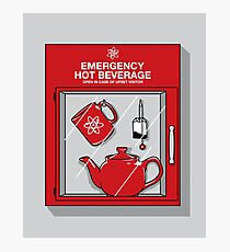 Social Protocol Emergency Photographic Print