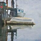4 Dinghies, New Harbor Maine by Dave  Higgins