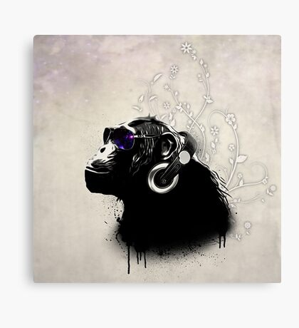 Monkey Tripping Canvas Print
