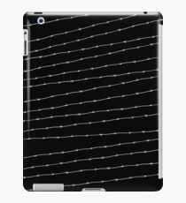 Cool black and white barbed wire pattern iPad Case/Skin